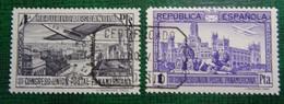 &SVE 125& ESPAÑA SPAIN  EDIFIL 618,619, MI 596,597,YV PA 88,89 VF USED KEY VALUE. AIRPLANE, AVION. - 1931-50 Gebraucht