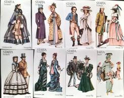Textile Vintage Dresses Modeling  Set 8v. Imperfect , Staffa  Scotland - Textile