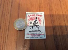 Ancienne étiquette Boîte D'allumettes Belgique «Café Koffie JEANNE D'ARC AVEC PRIMES - POPERINGE» (cheval) - Cajas De Cerillas (fósforos)