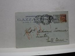 LA SPEZIA  ---  GAZZA CESARE  -- DROGHERIA  - COLONIALI--  ANNULLO MATA HARI - La Spezia