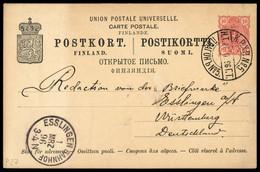 1896, Finnland, P 27, Brief - Sin Clasificación