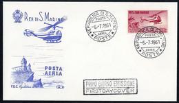 1961, San Marino, 696, FDC - Ohne Zuordnung