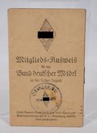 Mitglieds-Asuweis Für Den Bund Deutscher Mädel In Der Hitler-Jugend HJ 1935-1940 München Aalen - Documenti