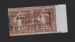 Lot 037, Timbre De Guerre, 1 C Semeuse Dunkerque Coudekerque , Surcharge De Complaisance - Wars