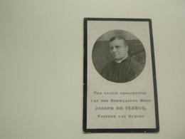Doodsprentje ( 3661 )  Priester Pastoor De Clercq - Schorisse Gent Aalst Erembodegem Temse Burcht 1910 - Obituary Notices