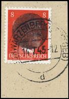 1945, Deutsche Lokalausgabe Schwarzenberg, 786 Sch, Briefst. - Ohne Zuordnung