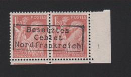 Lot 052, Timbre De Guerre, 1 F 50 Iris Dunkerque Coudekerque Gomme Sans Charnière, Surcharge De Complaisance - Wars