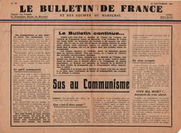 BULLETIN DE FRANCE 10 SEPTEMBRE 1941 PROPAGANDE SOCIALE DU MARECHAL VICHY  N° 50  ETAT FRANCAIS - 1939-45