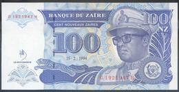 Ref. 3851-4288 - BIN ZAIRE . 1994. ZAIRE 100 NOUVEAUX ZAIRES 1994 - Zaire