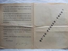 PROPAGANDE DE GAULLE ANTI LVF VOLONTAIRES FRANCAIS WEHRMACHT - 1939-45