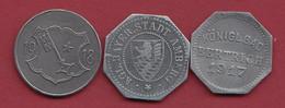 Allemagne 3 Kriegsgeld - Dans L 'état Lot N °24 - [ 2] 1871-1918: Deutsches Kaiserreich