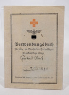 Rarität Rotes Kreuz Drittes Reich Verwendungsbuch Freiwillige Krankenpflege 1944/1945 U.A. Aalen - Documenti