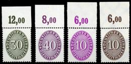 1927, Deutsches Reich, D 121 P U.a., ** - Dienstpost