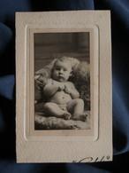 Photo CDV Gerschel à Nancy  Bébé  Petit Garçon Nu Joufflu Et Potelé  CA 1910-20 - L521C - Anonyme Personen