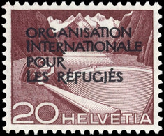 1950, Schweiz Internationale Flüchtlingsorganisation OIR, 3 II, ** - Officials