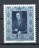 1953, Liechtenstein, 314, * - Zonder Classificatie