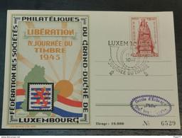IV. Journée Du Timbre 1945, Cercle Philatélique Dudelange - Ganzsachen