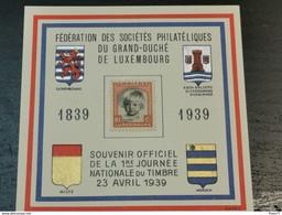 Souvenir Officiel De La 1er Journée Nationale Du Timbre 1939. Non Oblitéré - Ganzsachen