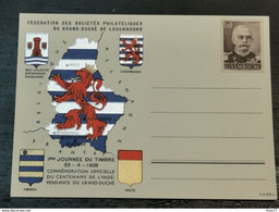 1ère Journée Du Timbre 1939 Centenaire De L'indépendance Du Grand-duché - Ganzsachen