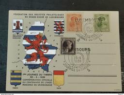 1ere Journée Du Timbre, 1939 Centenaire De L'indépendance Du Grand-duché - Ganzsachen