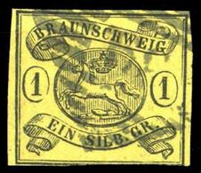 1861, Altdeutschland Braunschweig, 11 A, Gest. - Braunschweig