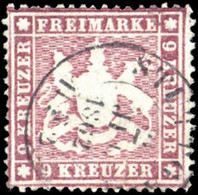 1860, Altdeutschland Württemberg, 19 Yb, Gest. - Wuerttemberg