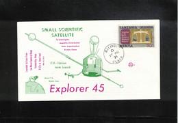 Kenya 1971 Space / Raumfahrt USA - Italian Explorer 45 Satellite Interesting Letter - Stati Uniti