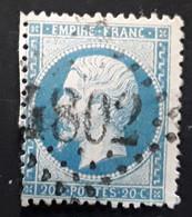 Empire Dentele No 22 Obl GC 4802 Bureau Supplémentaire  De MEGEVE, Haute Savoie,  Indice 17, Belle Frappe TB - 1862 Napoléon III.