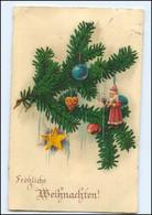 Y10839/ Weihnachten Tannenzweig Weihnachtsmann AK Litho 1938 - Sin Clasificación