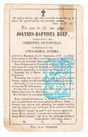 DP Joannes Baptista Baep ° Bierbeek 1797 † 1868 X Chr. Denonville Xx Anna M. Althea - Andachtsbilder