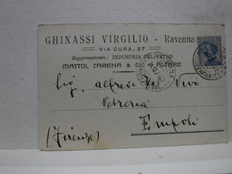 RAVENNA  ---  GHINASSI  VIRGILIO  -- INDUSTRIA DEL VETRO - Ravenna