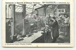 PARIS X - Instruments Et Appareils De Chirurgie Vétérinaire Maison Gasselin - 4, Boulevard Saint-Martin - District 10