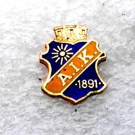 Football/soccer/pin   -    Quality, Old, Rare   -   AIK  Stockholm  -   SWEDEN . - Calcio