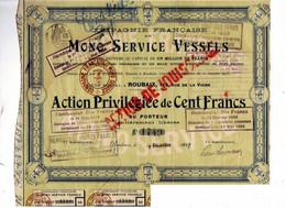 Compagnie Française Du MONO SERVICE VESSELS - Non Classés