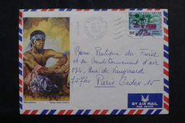 NOUVELLE CALÉDONIE - Enveloppe Touristique De Nouméa Pour Paris En 1981 - L 72665 - Briefe U. Dokumente