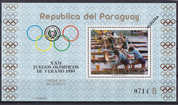 Olympics 1988 - Canoing - PARAGUAY - S/S B MUESTRA MNH - Summer 1980: Moscow