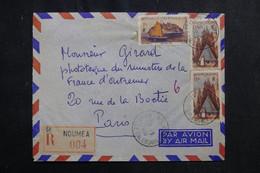 NOUVELLE CALÉDONIE - Enveloppe En Recommandé De Nouméa Pour Paris En 1955 - L 72677 - Cartas