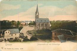 ALLEMAGNE   GIESSEN  Johanneskirche Mit Südanlage  CPA - Giessen
