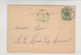 Thuillies (21/01/1885) Vers La Hestre Lez-Mariemont  / CP De L.Lecouturier Poelier à Thuillies - Postkaarten [1871-09]