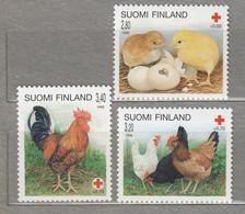 FINLAND  Fauna Farm Birds 1996 Mi 1334-1336 MNH(**) #25176 - Ongebruikt