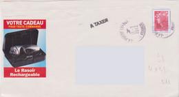 Griffe 1 Ligne A TAXER 4X21 Découpe PAP Inadmis  + TAD 12155A - Lettere Tassate