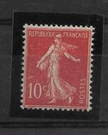 FRANCE   N° 135  NEUF SANS CHARNIERE - 1906-38 Semeuse Con Cameo