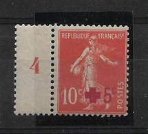FRANCE   N° 146  NEUF SANS CHARNIERE - 1906-38 Semeuse Con Cameo