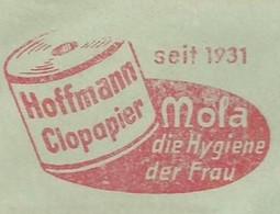 EMA METER STAMP FREISTEMPEL PAPER FOR HYGIENE TOILETTE PAPIER BIELLFELD 1963 - Otros