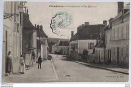 CPA - VERMENTON - Gendarmerie Et Rue Nationale - Col. J.D Sens - Vermenton