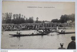 CPA - VERMENTON  (Yonne) Joutes Sur La Cure  - Collection J.D Sens - Vermenton