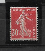FRANCE   N° 160    GOMME COULEE   NEUF SANS CHARNIERE - 1906-38 Semeuse Con Cameo