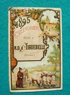 Calendrier Petit Format 1895 - Aiguebelle - Moines Trappistes - Chars à Boeufs - Calendari