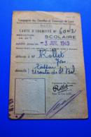 1949--TITRE DE TRANSPORT BILLET 20% CIE DES OMNIBUS,TRAMWAYS LYON-☛Carte D'identité Scolaire-☛réseau Transport En Commun - Season Ticket