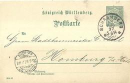 "9456""KONIGREICH WUERTTEMBERG POFTKARTE"" -CARTOLINA SPEDITA 24/8/1897 - Wurtemberg"